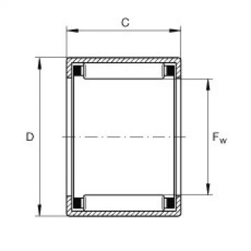 FAG تعادل كأس إبرة محامل مع نهاية مفتوحة - SCE2216