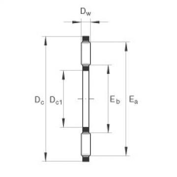FAG Axial needle roller and cage assemblies - AXK3552