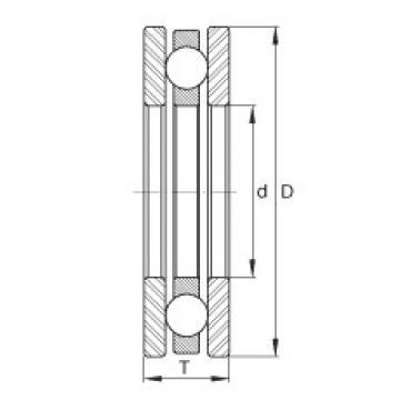 FAG محوري الأخدود العميق الكرات - DM35