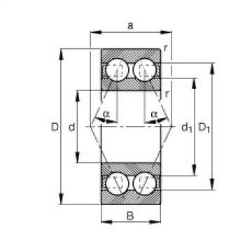 FAG الزاوي الاتصال الكرات - 3207-BD-XL-TVH