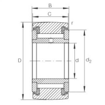 FAG نير نوع بكرات المسار - NATV35-PP