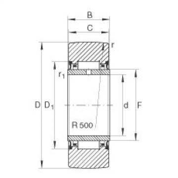 FAG نير نوع بكرات المسار - NA2206-2RSR