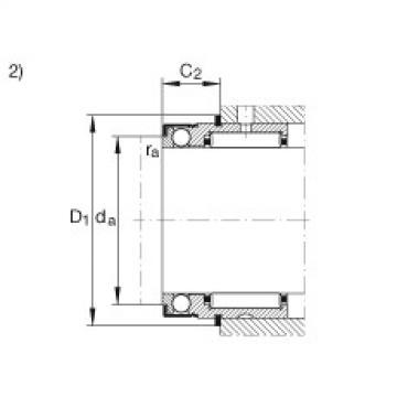 FAG إبرة بكرة / محوري الكرات - NX30-Z-XL