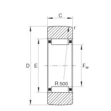 FAG نير نوع بكرات المسار - RSTO25