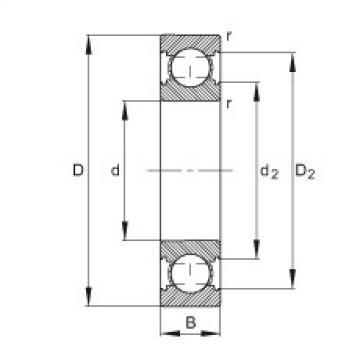 FAG الأخدود العميق الكرات - 6307-C-2Z