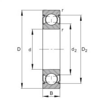 FAG الأخدود العميق الكرات - 6207-C-2Z