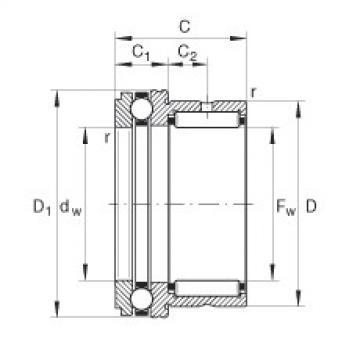 FAG إبرة بكرة / محوري الكرات - NKX30-XL