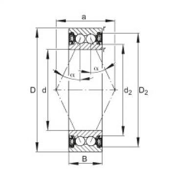 FAG الزاوي الاتصال الكرات - 3807-B-2RZ-TVH