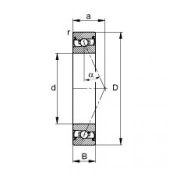 FAG محامل المغزل - HSS71928-E-T-P4S