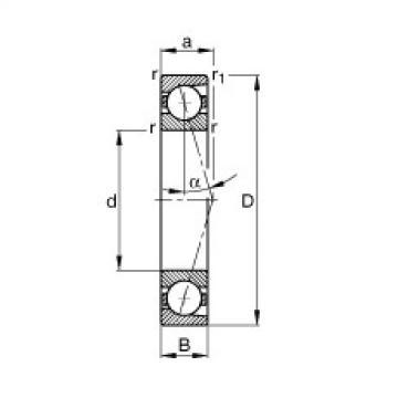 FAG محامل المغزل - B7007-C-T-P4S