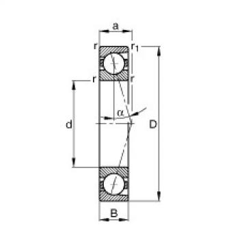 FAG محامل المغزل - B71928-C-T-P4S