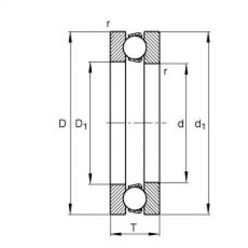 FAG محوري الأخدود العميق الكرات - 51107