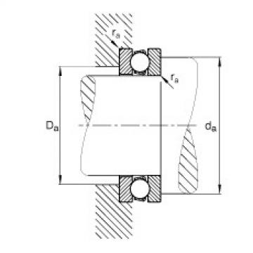 FAG محوري الأخدود العميق الكرات - 51207