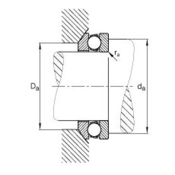 FAG محوري الأخدود العميق الكرات - 53206