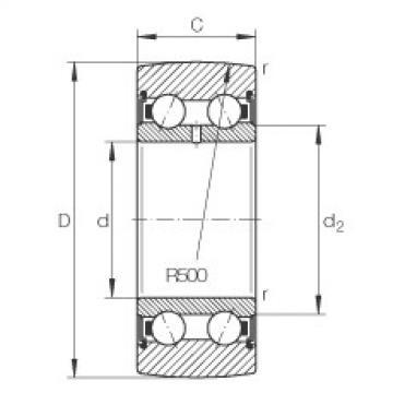 FAG بكرات الجنزير - LR5007-2RS