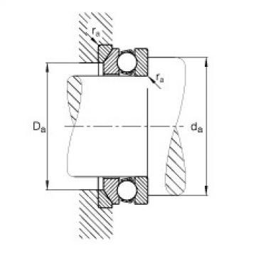 FAG محوري الأخدود العميق الكرات - 53206 + U206