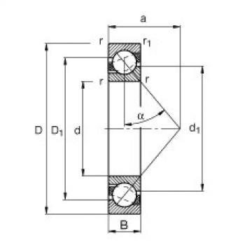 FAG الزاوي الاتصال الكرات - 7407-B-XL-MP