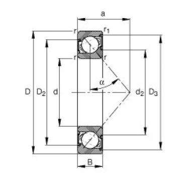 FAG الزاوي الاتصال الكرات - 7306-B-XL-2RS-TVP