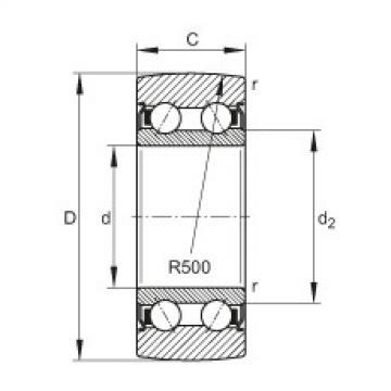 FAG بكرات الجنزير - LR5206-2Z-TVH-XL
