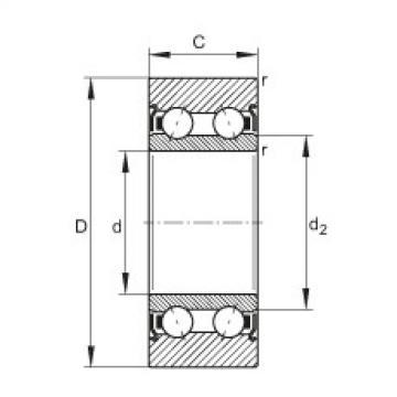 FAG بكرات الجنزير - LR5206-X-2Z-TVH-XL