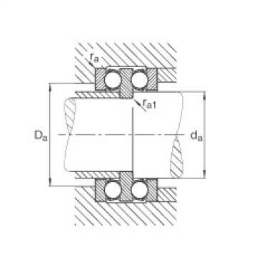 FAG محوري الأخدود العميق الكرات - 52208