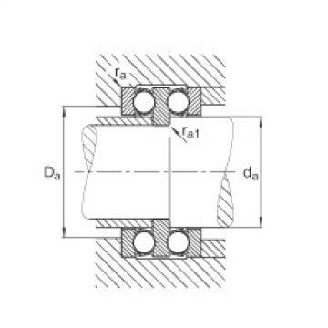 FAG محوري الأخدود العميق الكرات - 52309