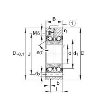 FAG محوري الزاوي الاتصال الكرات - ZKLF3590-2RS-PE