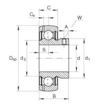 FAG شعاعي إدراج الكرات - GAY35-XL-NPP-B