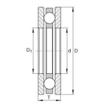 FAG محوري الأخدود العميق الكرات - 4414