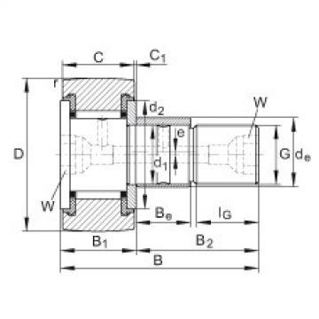 FAG مسمار نوع بكرات المسار - KRE80-PP