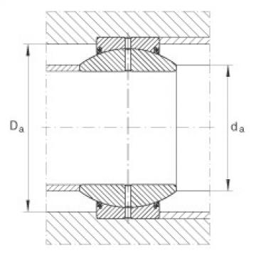 FAG Radial spherical plain bearings - GE35-FO-2RS