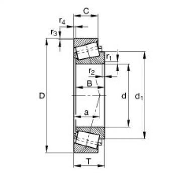 FAG تناقص الأسطوانة المحامل - KM88046-M88010-XL