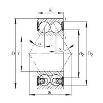 FAG الزاوي الاتصال الكرات - 3307-BD-XL-2HRS-TVH