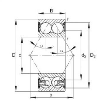FAG الزاوي الاتصال الكرات - 3306-BD-XL-2Z-TVH