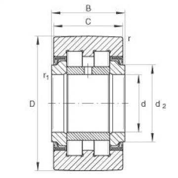 FAG نير نوع بكرات المسار - PWTR3580-2RS-XL