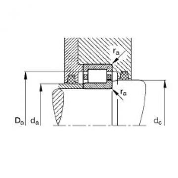 FAG محامل أسطوانية - NJ307-E-XL-TVP2 + HJ307-E
