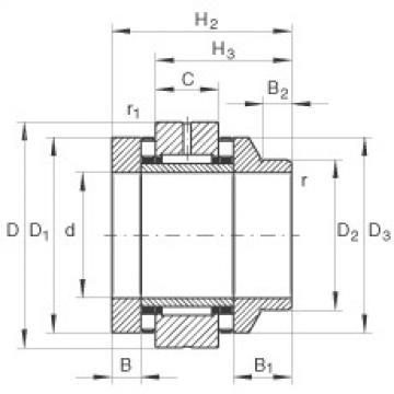 FAG إبرة بكرة / محوري أسطواني محامل - ZARN3585-L-TV