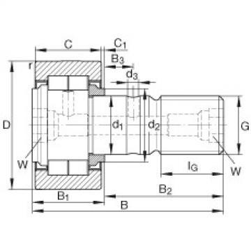 FAG مسمار نوع بكرات المسار - NUKR90
