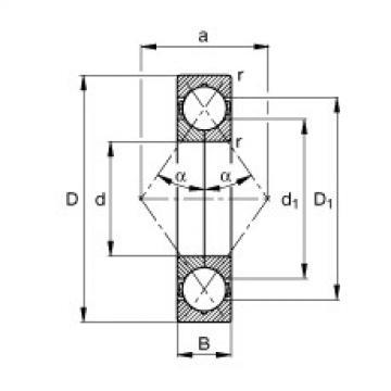 FAG أربعة محامل الاتصال نقطة - QJ206-XL-MPA