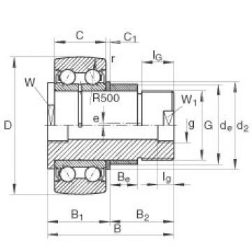 FAG مسمار نوع بكرات المسار - ZLE5207-2Z