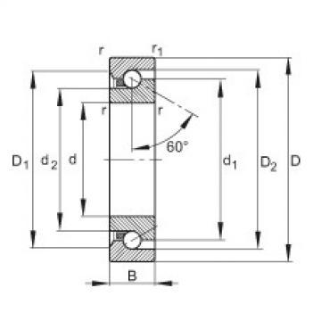 FAG محوري الزاوي الاتصال الكرات - BSB3572-SU-L055