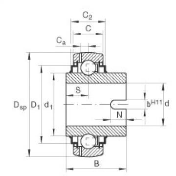 FAG شعاعي إدراج الكرات - GLE35-XL-KRR-B