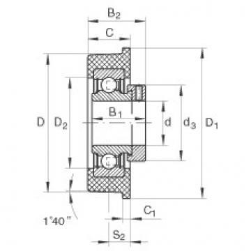FAG شعاعي إدراج الكرات - CRB35/110-XL