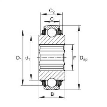 FAG Self-aligning deep groove ball bearings - SK104-208-KTT-B-L402/70-AH10
