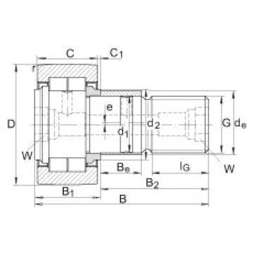 FAG مسمار نوع بكرات المسار - NUKRE80