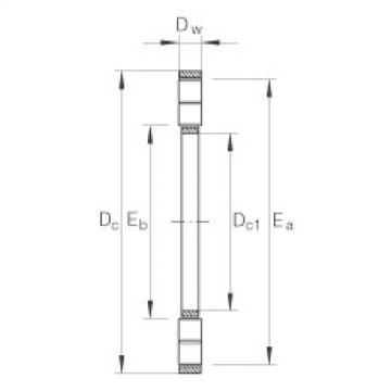 FAG Axial cylindrical roller and cage assembly - K89307-TV