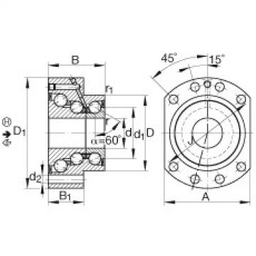 FAG Angular contact ball bearing units - DKLFA30110-2RS