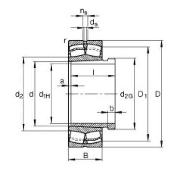 FAG محامل كروية - 22308-E1-XL-K + AH2308
