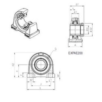 المحامل EXPAE206 SNR