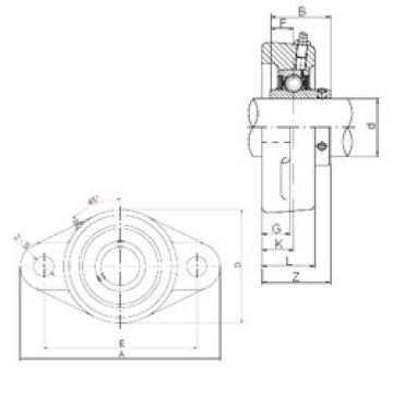 المحامل UCFL311 ISO